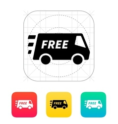 Free delivery service icon vector image