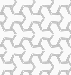 Gray dotted offset tetrapods vector