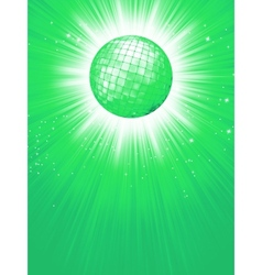 Green disco rays with stars EPS 8 vector