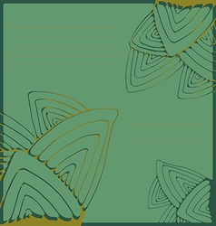 Green pattern with stylized leaves vector