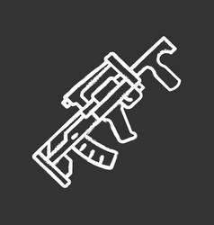 groza weapon chalk icon virtual video game vector image