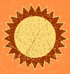 Grunge sun vector