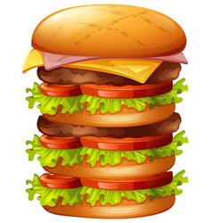 Hamburger with many layers vector