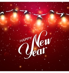Happy New Year Christmas Lights vector