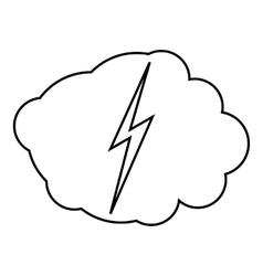 High voltage icon outline style vector