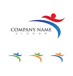 human character logo sign health care logo sign vector image