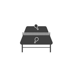 icon of the table for ping pong on white vector image