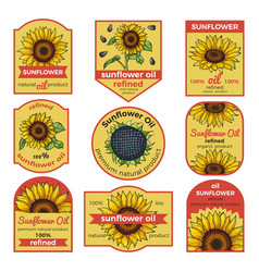 labels for sunflower oil vector image