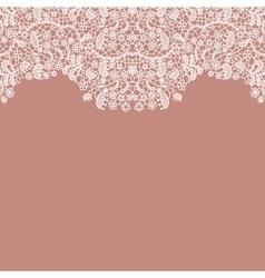 Lacy wedding invitation card vector image