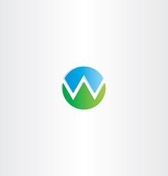 letter w mountain symbol logo vector image