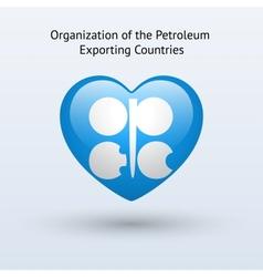 Love organization petroleum exporting countries vector