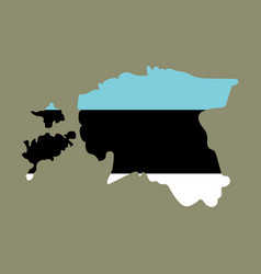 map estonia isolated black on white background vector image