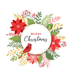 merry christmas greeting card in elegant modern vector image