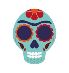mexican Sugar Skull icon vector image