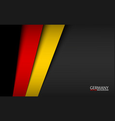 modern background with german colors vector image