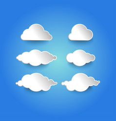 modern cloud vector image