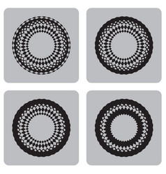 monochrome set of icons with unusual circles vector image
