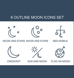 Moon icons vector