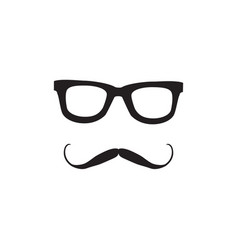 mustache and glasses icon icon vector image