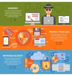 Network Security Banners vector