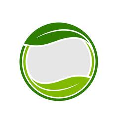 organic leaf circle emblem symbol graphic logo vector image