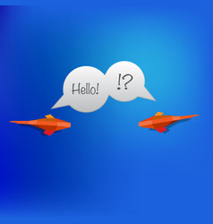 paper fish speech vector image
