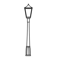 park lantern isolated icon vector image