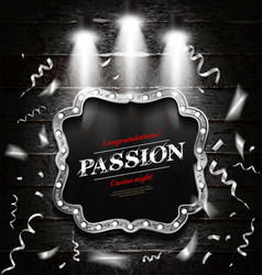 Passion cash game vector