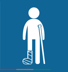 people broken arm and leg icon design vector image