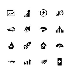 performance - flat icons vector image