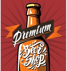 Poster cold beer vector