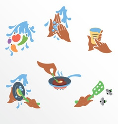 Principles of food hygiene set one vector image