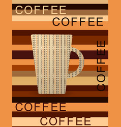 Red cup coffee with smoke idea concept vector