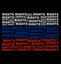 Russian flag collage of rights text items vector