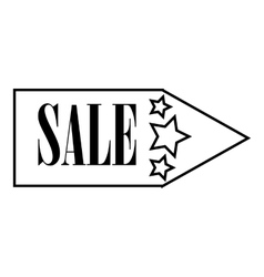 Sale pointer icon outline style vector
