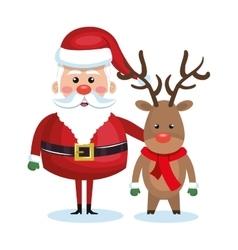 Santa claus character icon vector
