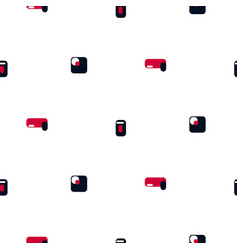 seamless pattern with small colored simple shapes vector image