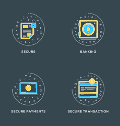 Secure banking payments transaction vector