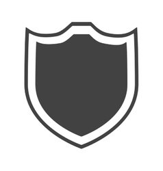 shield protection insignia security element vector image