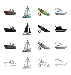 Ship steamer sports and other web icon in vector