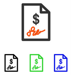 signed invoice flat icon vector image