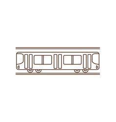 simple subway icon vector image