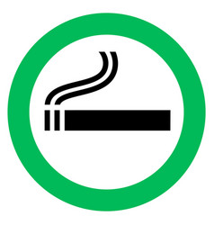 smoking area sign vector image