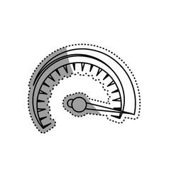 speedometer power car vector image