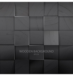 Stack Of The Dark Wooden Background vector image
