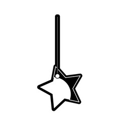 Star hanging icon vector