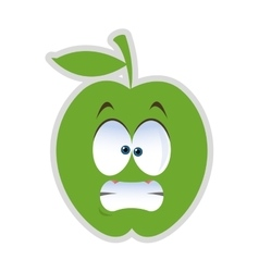 Stressed apple cartoon icon vector