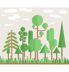 Summer Tree Forest Flat vector image