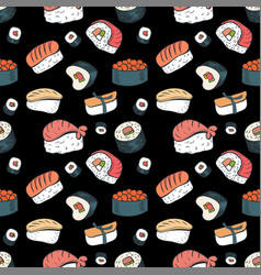 sushi seamless background vector image