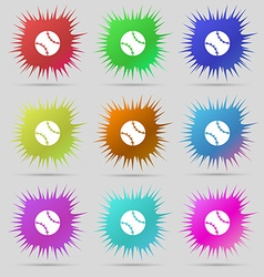 Tennis ball icon sign A set of nine original vector image
